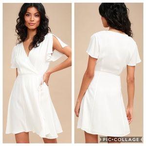 Lulu's | White Harbor Point Wrap Dress